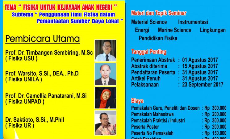 Seminar Nasional Fisika Universitas Riau (SNF UR