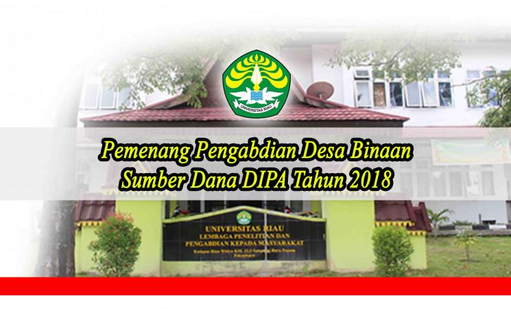Pengumuman: Pemenang Pengabdian Desa Binaan Sumber Dana DIPA 2018