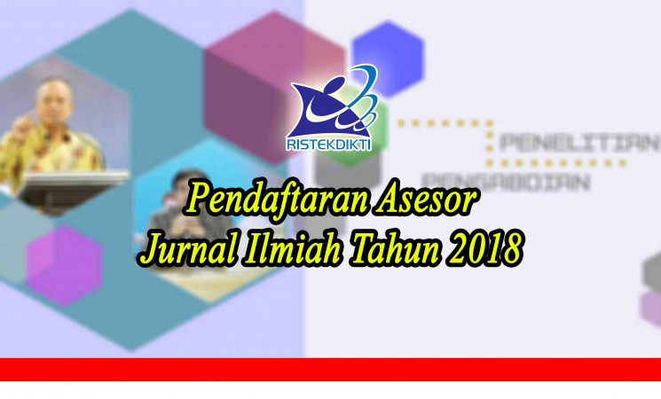 PendaftaranAsesor Jurnal Ilmiah Tahun 2018