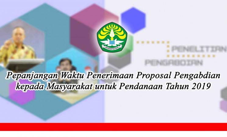 Pepanjangan Waktu Penerimaan Proposal Pengabdian kepada Masyarakat untuk Pendanaan Tahun 2019