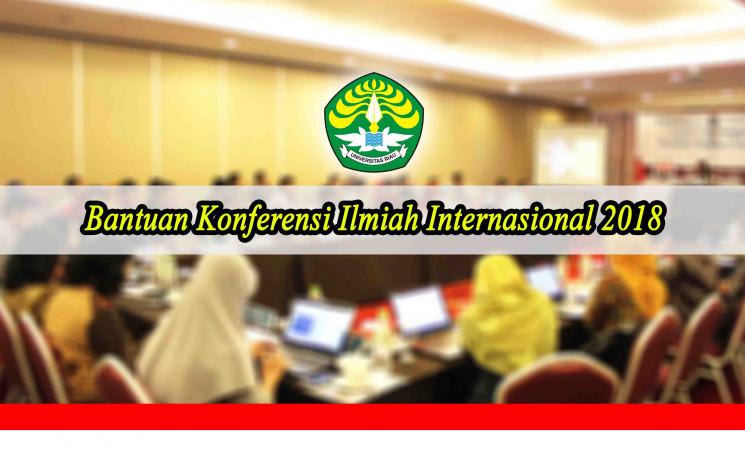 Pengumuman: Bantuan Konferensi Ilmiah Internasional 2018