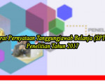Surat Pernyataan Tanggungjawab Belanja (SPTB) Penelitian Tahun 2017