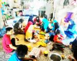 Kukerta di Kecamatan Rangsang, Mahasiswa UNRI Olah Kelapa Jadi Nuged dan Sirup