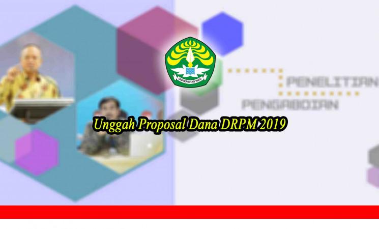 Unggah Propoposal Dana DRPM 2019