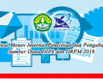 Jadwal Monev Internal Penelitian dan Pengabdian Sumber Dana DIPA dan DRPM 2018