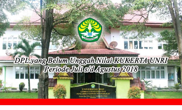 Pengumuman: DPL yang Belum Unggah Nilai KUKERTA UNRI Periode Juli s/d Agustus 2018