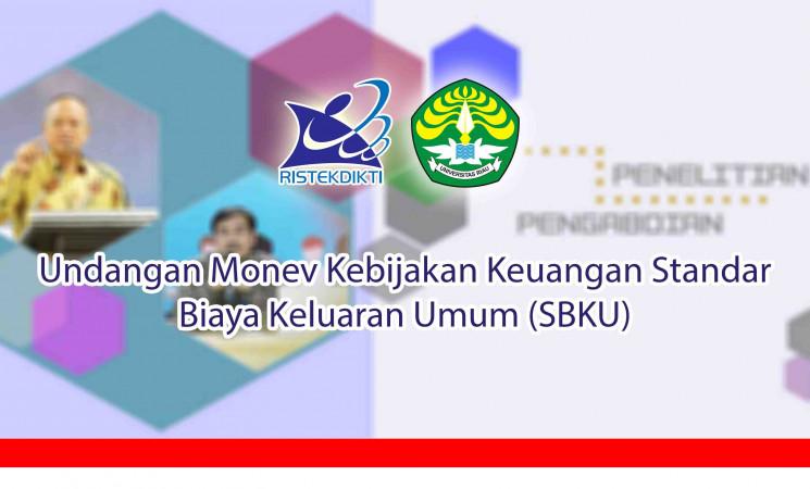 Undangan Monev Kebijakan Keuangan Standar Biaya Keluaran Umum (SBKU)