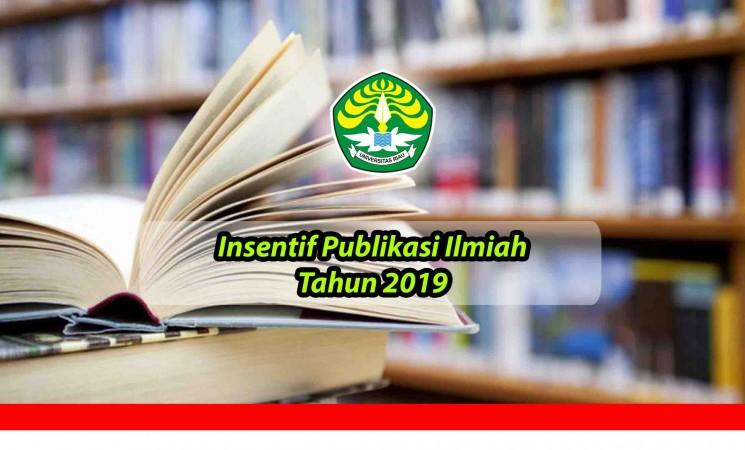 Insentif Publikasi Ilmiah Tahun 2019