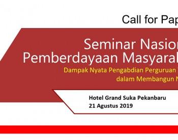 Seminar Nasional Pemberdayaan Masyarakat (Dampak Nyata Pengabdian Perguruan Tinggi dalam Membangun Negeri)