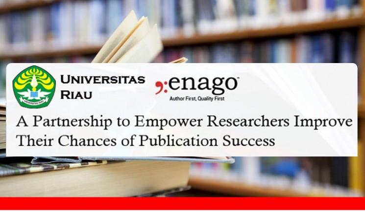 Partnerhip LPPM UNRI with ENAGO - Native Proofreading Service dan Special Diskon 40% bagi Peneliti UNRI