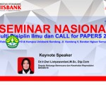 Seminar Nasional - Multi Disiplin Ilmu dan CALL for PAPERS 2019